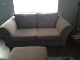 Next 2 seater settee with matching footstool ******FURTHER REDUCED PRICE********