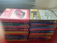 Haynes Manual books for rover,vauxhall,saab,ford sierra,ford escort etc