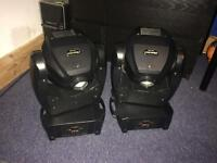 Pair of Imove Isolutions LED Moving Heads 50W - disco lighting DMX rotating gobos