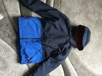 Jack wolfskin boys jacket 8 to 10years blue and navy VGC