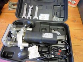 Trend T4E 850Watt Router (£40) and a set of tungsten-tipped router bits (£5)