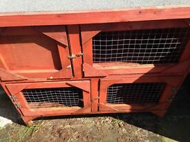 Double tier Rabbit hutch in great condition (bought it for £100 less than a year ago!)