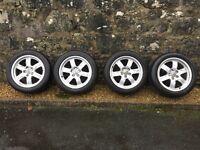 "Set 4 Genuine Audi A5 17"" Alloy Wheels SLine 225 50 tyres 6 spoke wheels"