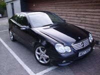 2006 MERCEDES C CLASS C180 COUPE - AMG SPORT EDITION - 1 YEAR MOT