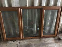3 Light Oak upvc windows.