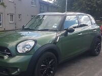 Mini Cooper Countryman SD 2.0 diesel 5 door hatch in jungle green with black alloys