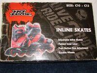 Inline Skates Children Adjustable Size C10-C13
