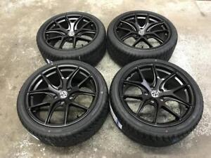 "18"" Matt Black Wheels 5x112 and All Season Tires 225/40ZR18 (Volkswagen) Calgary Alberta Preview"