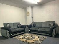SOLD- Absolutely gorgeous grey & black DFS immaculate condition 3&2 delivery 🚚 sofa suite couch