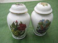 2 Vintage Devonport Pottery Limited Edition Spice Jars for £9.00