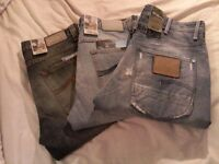 BNWT, Nudie Jeans Straight Alf & Average Joe, G-Star Fronti1er Pant Original, W34/L32. Made in Italy