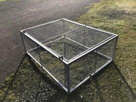 STEEL GALVANISE CAGE WITH OPEN DOOR 5-half by 4 ft