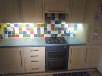 Large Kitchen Including worktops, breakfast bar, oven and Hob