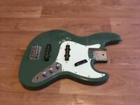 Fender jazz bass style body green