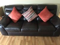 Brown Leather 3 seater and 2 seater from DFS