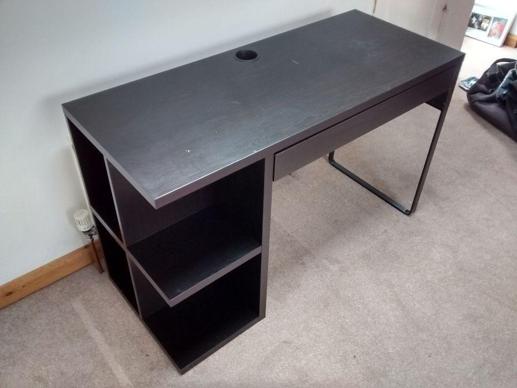 Black Ikea Micke Desk 120cm X 75cm 50cm For