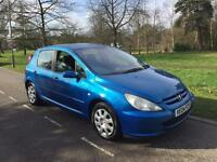 PEUGEOT 307 S 2.0 2004 5 DOOR LONG MOT LOADS OF EXTRAS DRIVES THE BEST BARGAIN