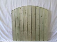 tanalised 3ft x 3ft round top garden gate
