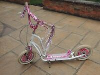 Girls Pink & White Scooter
