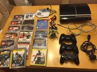 PS3 40gb console and games bundle