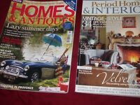 50 home and antiques magazines
