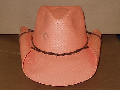 Orange Cowboy Hat (CHARLIE 1 HORSE STRAW TG WESTERN COWBOY HAT SIZE)