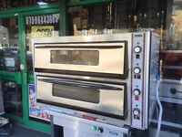 CATERING COMMERCIAL USED PIZZA 2 DECK OVEN CAFE KEBAB FAST FOOD TAKE AWAY SHOP
