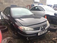 Renault Laguna petrol 2007 year spare parts Available