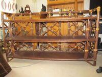 Rattan/cane bookshelf storage - handmade - single or pair available