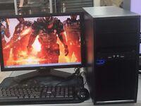 FAST DESKTOP GAMING COMPUTER PC INTEL i3 2.93GHz 4GB RAM 500 GB DVDRW