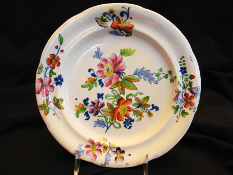 """Early Staffordshire Pearlware """"Opaque China"""" Plate 8 3/4"""" dia c 1785-1820"""