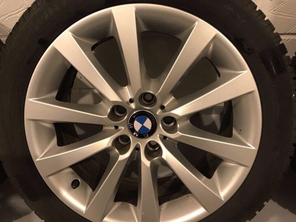 Bmw 18 Alloys with Winter tyres, around 4mm tread left