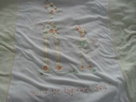 When Will I Be Big - Cot Bedding, Laundry Bag, Cushion, Pictures and Mobile - excellent condition