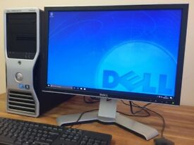 "GAMING PC Dell T3500 XEON Quad Core, 8 GB Ram, GeForce GTX 650 + 22"" Monitor - Desktop PC"