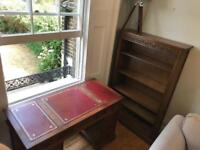 Old charm desk and bookcase