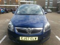 Blue Vauxhall Zafira petrol 1.8 easy tronic semi - auto only mileage 055357, has original key