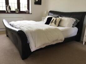 Super king leather bed frame
