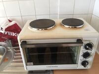 Two hob table top cooker