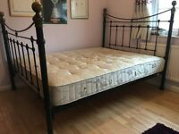 King-size Iron bed & mattress