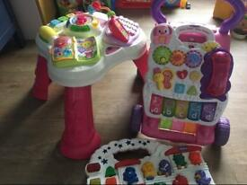 VTech Walker, VTech activity table and Chicco toy