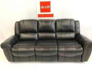 WAS $2,999. NOW $1,800 AMAX Genuine Leather SOFA Recliner Now available In STOCK at dex10