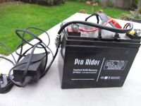 Pro Rider battery and charger with cables