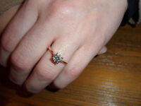 0.74 carat diamond solitaire ring in 18ct yellow gold band, with certificate of authentication