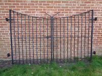 "A pair of 50"" wrought iron gates heavy duty"