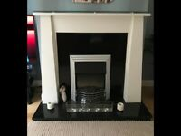 Electric fire place with surround & granite hearth