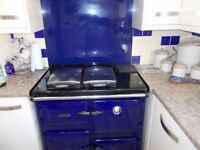 Rayburn Cookmaster 400G PX (PF) Natural Gas Balance Flue. Blue.