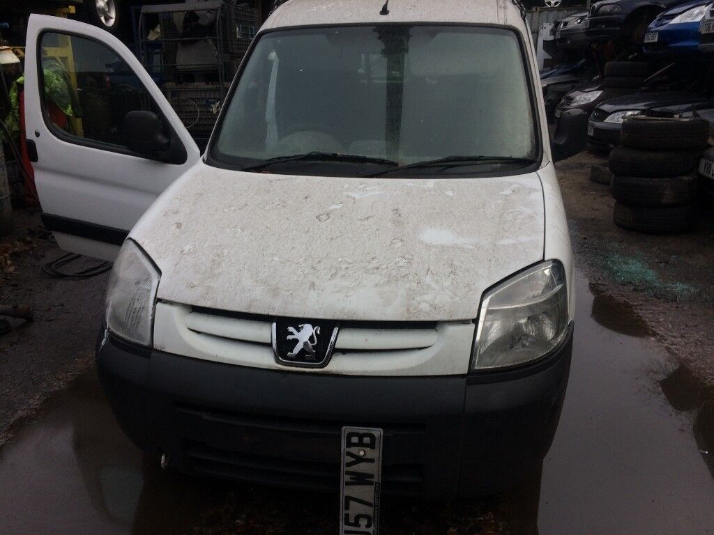 2007 Peugeot Partner Lx800 66Kw Car Dirived van White 1.6L Petrol BREAKING FOR SPARES