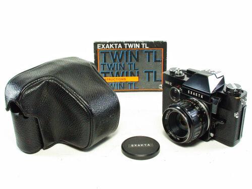 Ihagee Exakta Twin TL 35mm SLR Film Camera with Lens, Case & Instruction Manual