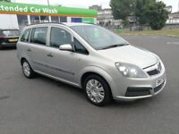 7 SEATER VAUXHALL ZAFIRA 1.6 MANUAL IN VERY CLEAN CONDITION. 1 YEAR MOT. RECENTLY SERVICED. 2 KEYS.