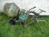 Concrete Mixer - Baromix Minor 240 volt. Non runner in poor condition. Spares or repair.